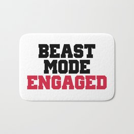 Beast Mode Engaged Gym Quote Bath Mat