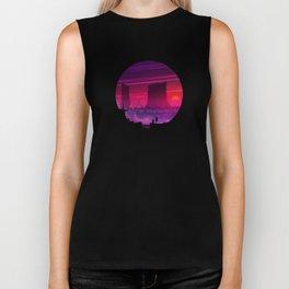 Synthwave Space #17: Twilight horizon Biker Tank