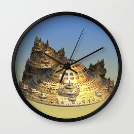 City of Gold Fractal Wall Clock