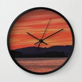 Sunset at Oban Bay Wall Clock