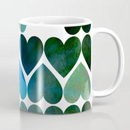 Mod Blue Hearts Coffee Mug