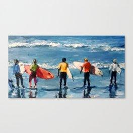 Crown City Surf Kids Canvas Print