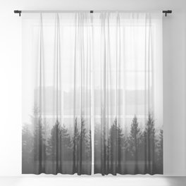Scandinavian Forest Sheer Curtain