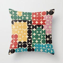 OCD is the new black - cozy, decor, retro, drawing, fashion, slowlife, design, painting, hygge, art, Throw Pillow