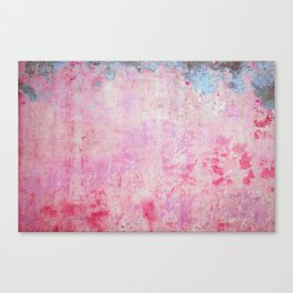 abstract vintage wall texture - pink retro style background Canvas Print