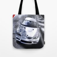 blueprint Tote Bags featuring M3 Blueprint by Propellorhead
