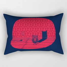 The Midnight Visitor Rectangular Pillow