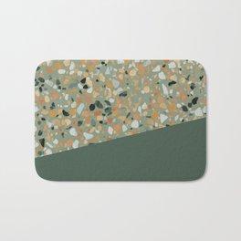 Terrazzo Texture Military Green #4 Bath Mat