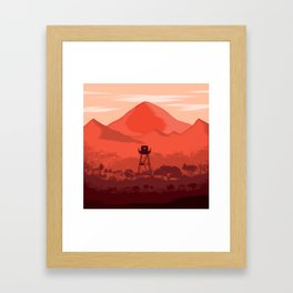 The Forest Lookout Framed Art Print