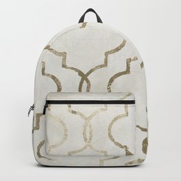 Paris Apartment White Backpack