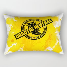 Chaotic Neutral RPG Game Alignment Rectangular Pillow
