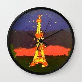 Paris In Abstract Wall Clock