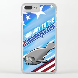 Highway To The Endangered Zone Clear iPhone Case