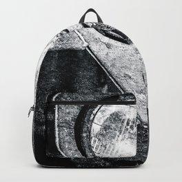 Vintage Military Car Black White Backpack