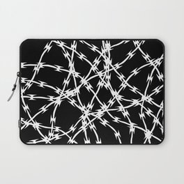 Trapped White on Black Laptop Sleeve