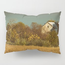 Abandoned Barn Colorized Landscape Photo Pillow Sham