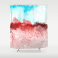 minerals Shower Curtains featuring Pink Minerals by Jessielee