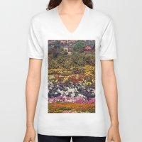 the neighbourhood V-neck T-shirts featuring Some neighbourhood called flower by Martin Carri