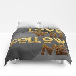 LOVE WILL FOLLOW ME # GOLDENPSALMS Comforters