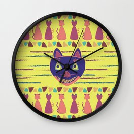 Madcat Excited Wall Clock