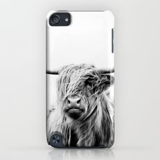 portrait of a highland cow Slim Case iPod touch