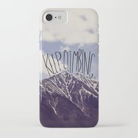 climbing iPhone & iPod Cases featuring Keep Climbing by Leah Flores