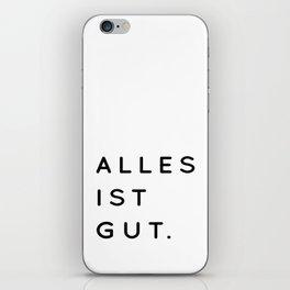 Alles ist Gut | Typography Minimalist Version iPhone Skin