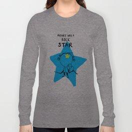 MOZART WAS A ROCK STAR (PINK) Long Sleeve T-shirt