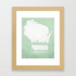 Milwaukee, Wisconsin Framed Art Print