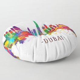 Dubai UAE Skyline Floor Pillow