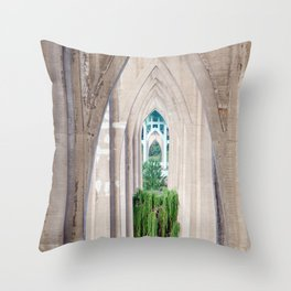 Cathedral Park Portland Throw Pillow