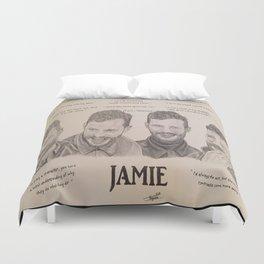 Jamie Dornan Words Duvet Cover