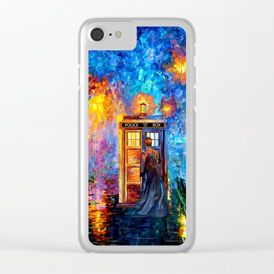 The 10th Doctor who Starry the night Art painting iPhone 4 4s 5 5c 6 7, pillow case, mugs and tshirt Clear iPhone Case