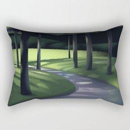 Undergrowth Path Rectangular Pillow
