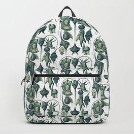 Ernst Haeckel Peridinea Plankton Algae Teal Backpack