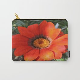 Close Up of a Beautiful Terracotta Gazania Flower Carry-All Pouch
