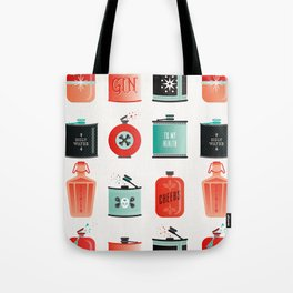 Flask Collection – Red & Turquoise Palette Tote Bag