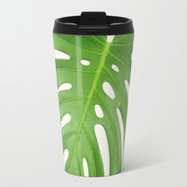 Tropical leaf print botanical print tropical decor minimalist leaves Travel Mug