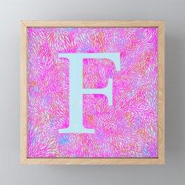 F Framed Mini Art Print