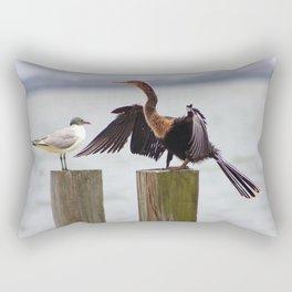 Anhinga Bird Drying Wings Rectangular Pillow