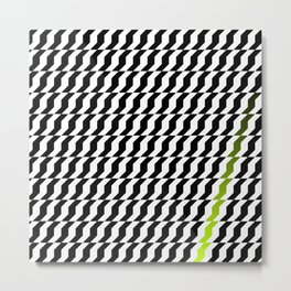 A Stripe of Green Metal Print