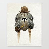 walrus Canvas Prints featuring walrus by Manoou