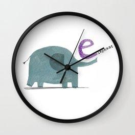 E is for Elephant Wall Clock