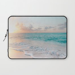 Beautiful tropical turquoise sandy beach photo Laptop Sleeve