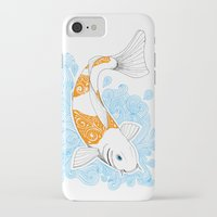 koi fish iPhone & iPod Cases featuring Koi fish  by Art & Be