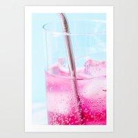 Blueberry Soda Art Print