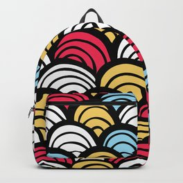Colorful  Asian Fish Scale Pattern Backpack