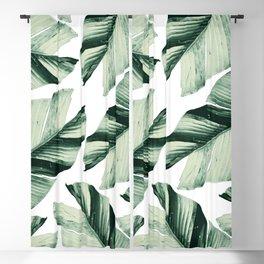 Tropical Banana Leaves Vibes #1 #foliage #decor #art #society6 Blackout Curtain