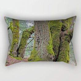 TWO BIG LEAF MAPLE TREES Rectangular Pillow