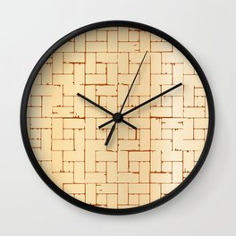 Wooden Parquet Flooring Wall Clock